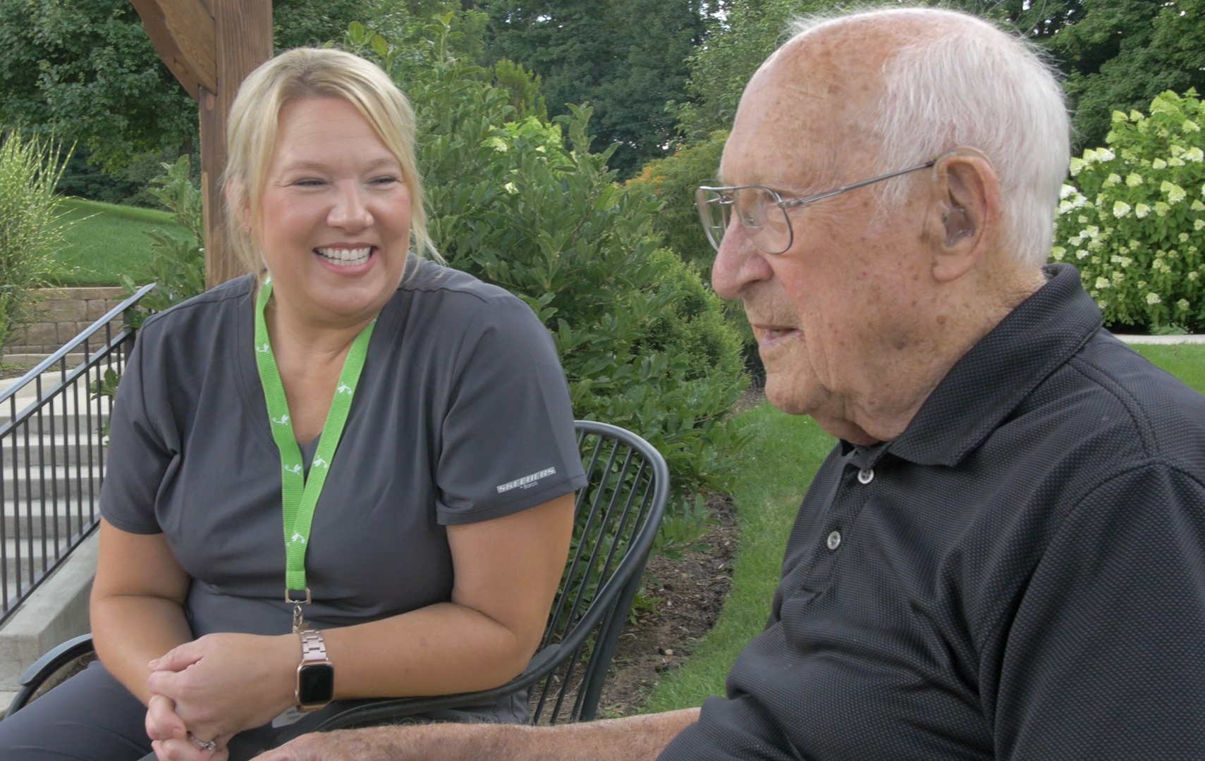 Read more about the article Leslie & Andre, Firefly Caregiver, and Client