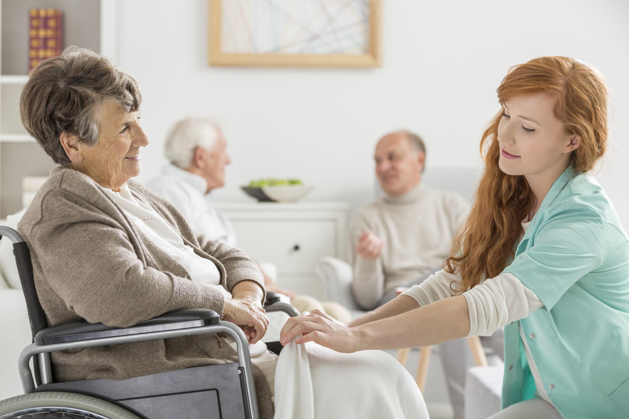 caregiver taking care